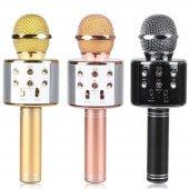 Karaoke Mikrofon Radyo Bluetooth Hoparlör Ses Bombası Müzik Çalar