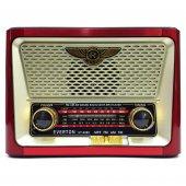 Nostaljik Antika Solar Şarjlı Radyo Müzik Çalar Fener Usb Tvtf Vt