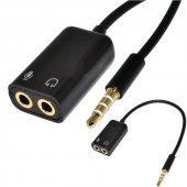 3.5mm Stereo Ses Kartı Mikrofon Ve Kulaklık Çoğaltıcı Çevirici Tr