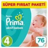 Prima Pampers Aktif Bebek 4 Numara 76 Ad. 8 14 Kg
