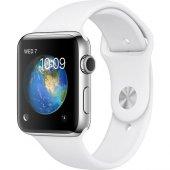 Apple Watch Series 2 38 Mm Paslanmaz Çelik Kasa Ve Beyaz Spor Kor
