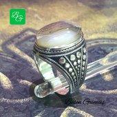 Besen Gümüş Yemen Akik Taşlı Erkek Gümüş Yüzük