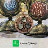Besen Gümüş Ayet&#039el Kürsi Nazar Duası Ve Allah Yazılı Kolye