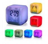 Piranha 4015 Termometreli Dijital Alarmlı Saat 7 Renk