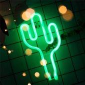 Kaktüs Tasarımlı Ledli Gece Lambası
