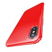 Baseus Small Hole İphone X Kırmızı Kılıf