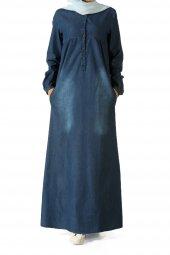 Allday Koyu Mavi Kot Elbise 175 025