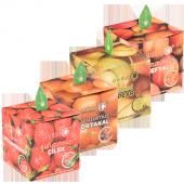 Ikramlık Küp Paket Çilek,armut,şeftali,portakal Atıştırmalık Kuru Meyve
