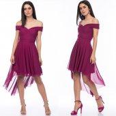 Kadın Tül Kuyruklu Pembe Elbise