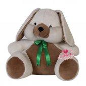 Peluş Tavşan Orta Boy Papyonlu 55 Cm