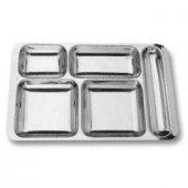 özburak Metal Tabuldot Tabldot Servis Tabağı Tabak 5 Gözlü 403