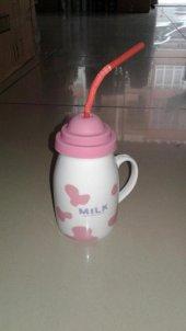 Porselen Kupa Pipetli Şık Tasarım Süt Kupası