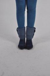 Bayan Süslü Ayakkabı Mavi Md2