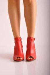 Bayan Günlük Topuklu Ayakkabı 88 Kırmızı Mat