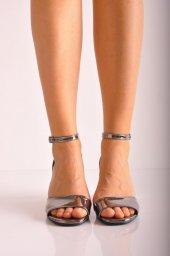 Bayan Günlük Topuklu Ayakkabı 66 Platin Ayna