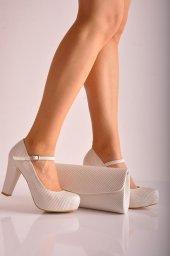 Bayan Abiye Topuklu Ayakkabı Takım 72 İnci Beyaz