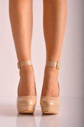 Bayan Abiye Topuklu Ayakkabı 222 Ten Rugan
