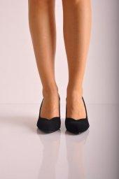 Lük Feta Topuk Ayakkabı 223 Siyah Süyet