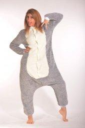Kigurumi Kostüm Pijama Gri Krem