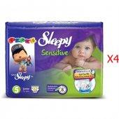 Sleepy Sensitive Junior Bebek Bezi 5 Numara 32*4 128 Adet
