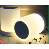 Piranha 7845 Şarjlı Bluetooth Hoparlör Renkli Işıklı Gece Lambalı