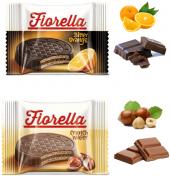 Elvan Fiorella Sütlü Çikolata Kaplamalı Fındık Parçacıklı Kremalı Gofret 24 Adet 20 Gram