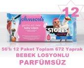 Johnsons Baby Losyonlu Islak Havlu 56x12 Paket Toplam 672 Yaprak