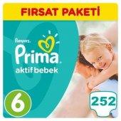 Prima 6 No Beden Bebek Bezi Fırsat Pk. 15+ Kg. 252 Adet