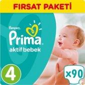 Prima Bebek Bezi No 4 Beden (8 14 Kg) 90 Adet Fırsat Paketi
