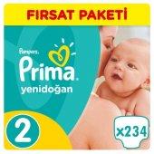 Prima Yenidoğan Bebek Bezi No 2 Beden (234 Adet) Fırsat Paketi