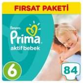Prima Bebek Bezi No 6 Beden (15+ Kg) 84 Adet Fırsat Paketi