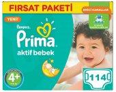 Prima Bebek Bezi No 4+ Beden (9 16 Kg) 114 Adet Fırsat Paketi