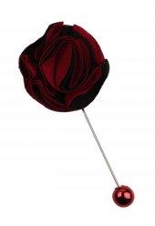 Siyah Kırmızı Oval Yaka Çiçeği Yc161