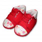 Bağcıklı Bebek Patik Kırmızı
