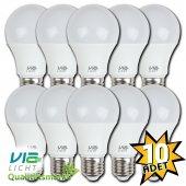 Vialicht 10w Led Ampul E27 810 Lm 230v Sarı Işık 10lu Eco Paket