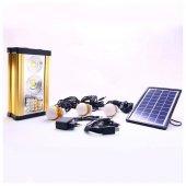 Solar Güneş Enerjili Kamp Lambası Solar Aydınlatma Işıldak 3ampul