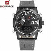 Naviforce 9095 Dijital + Analog Paslanmaz Çelik Erkek Kol Saati S