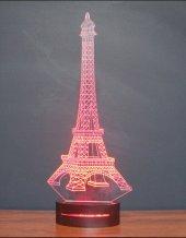 16 Renk Uzaktan Kumandalı 3d Eyfel Kulesi Led Masa Lambası