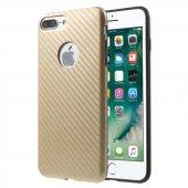 Microsonic İphone 7 Plus Kılıf Karbon Fiber Gold