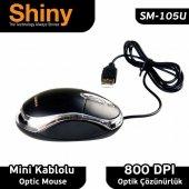 Shiny Sm 105u Usb, Optik Mouse, Gümüş