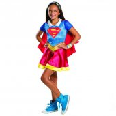 Supergirl Lisanslı Süper Kız Kostümü 8 10 Yaş Çocuk Kostümleri