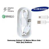 Samsung Galaxy S6 Hızlı Şarj Kablosu Micro Usb Şarj Data Transfer