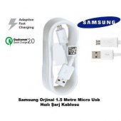 Samsung Galaxy Hızlı Şarj Kablosu Micro Usb Şarj Data Transferi O