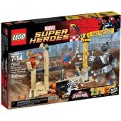 Lego 76037 Super Heroes Rhino Ve Kum Adam Süper Kötü Ekip