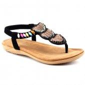Guja 18y210 26 Siyah Günlük Rahat Taban Bayan Sandalet Terlik