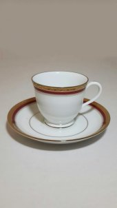 Noritake Cecile Gold 4359 12 Parça Porselen Kahve Fincan Takimi