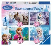 Bir Kutu Da Dört Farklı Puzzle Ravensburger Frozen