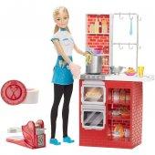 Barbie Makarna Şefi Ve Mutfak Oyun Seti Dmc36