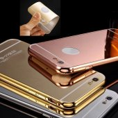 Samsung Galaxy C5 Pro C5010 Kılıf Metal Bumper Aynalı Sürgülü