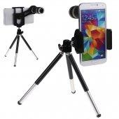 8x Optik Zoom Kamera Lens Seti Teleskop Tripodlu Macro Geniş Açı